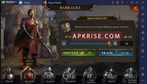 King of Avalon Mod APK v11.6.0 [Unlimited Gold + Money + Shields] 3