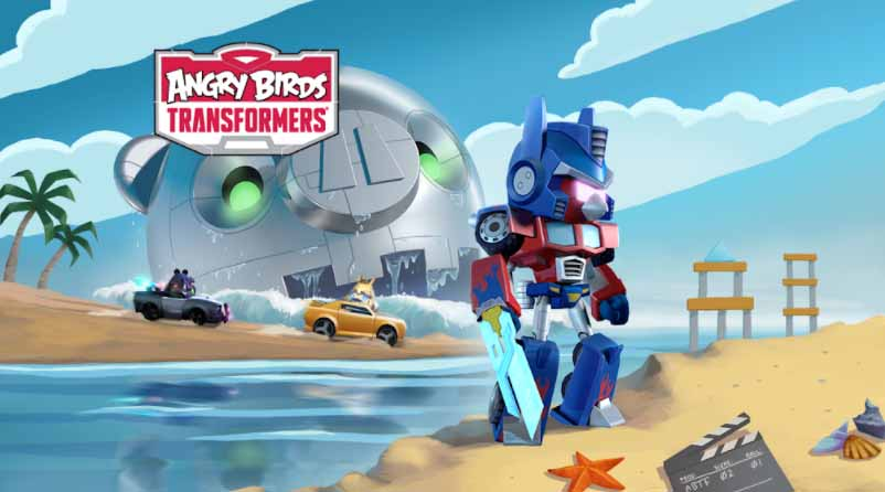 Angry birds transformers banner